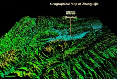 Geographical Map of Zhangjiajie