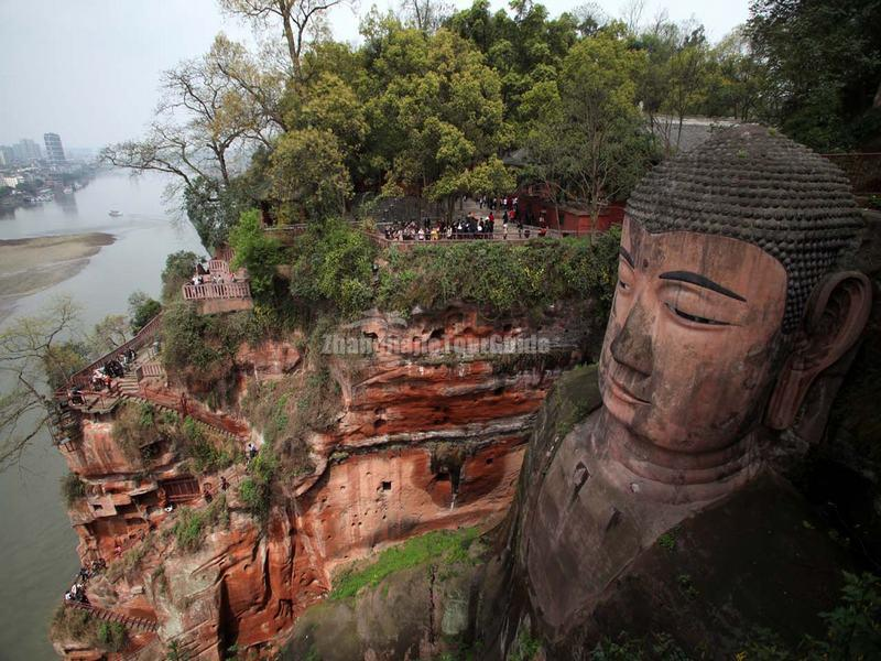 The Giant Buddha in Leshan, Sichuan