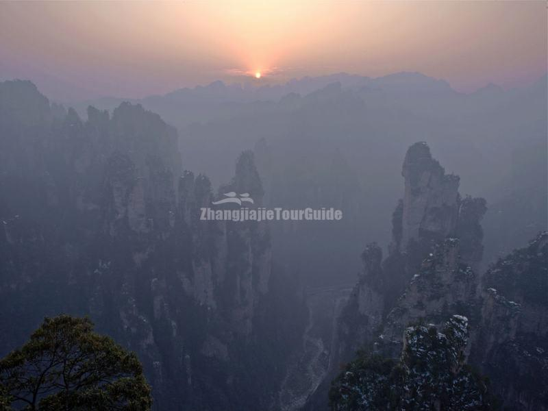 Sunrise in Zhangjiajie National Park