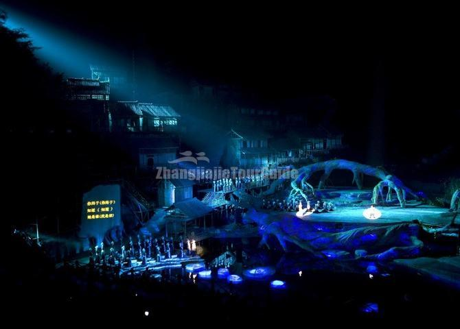 A Fantastic Night Show in Zhanjiajie China-Tianmen Fox Fairy