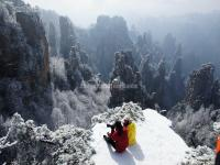 Tianzi Mountain in Snow