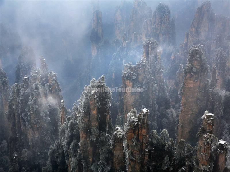Tianzi Mountain in Winter