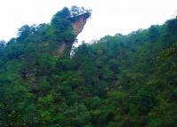 The Yaozi (sparrow hawk) Rock at Yaozizhai Scenic Area