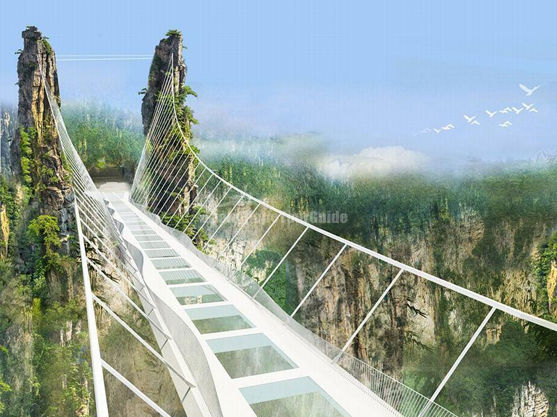 Glass Bridge in Zhangjiajie Grand Canyon
