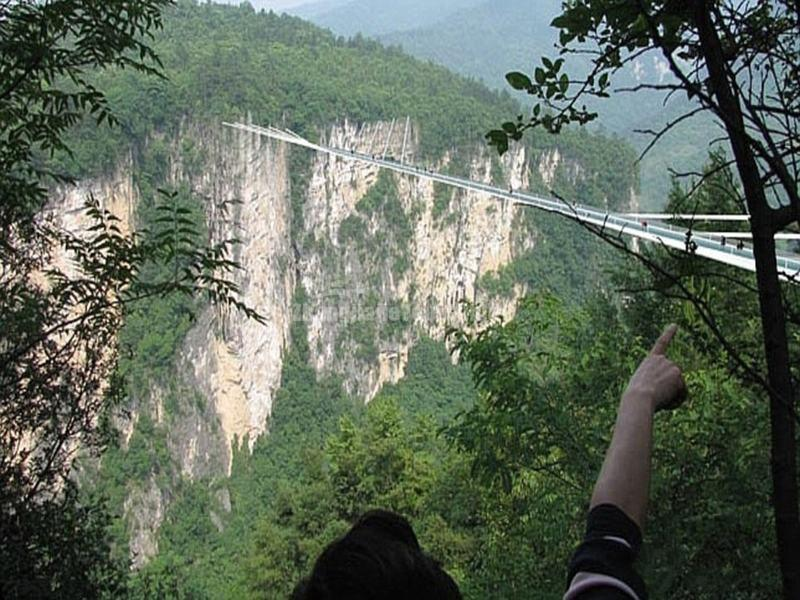 Glass Bridge in Zhangjiajie