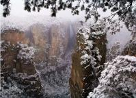 Avatar Mountains in Zhangjiajie National Park Winter