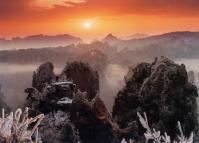 Sunset Over the Zhangjiajie National Forest Park
