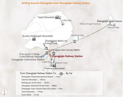 Zhangjiajie Train Station Map